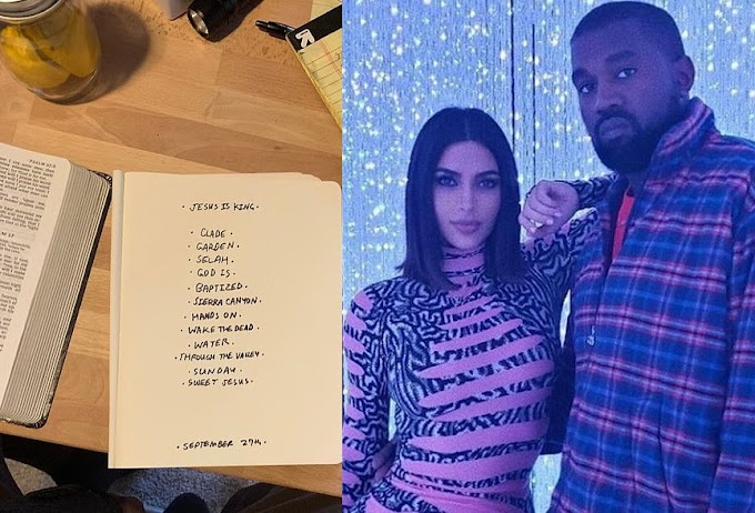 Kim Kardashian announces Kanye West's ninth-studio album is called 'Jesus Is King' and posts tracklist