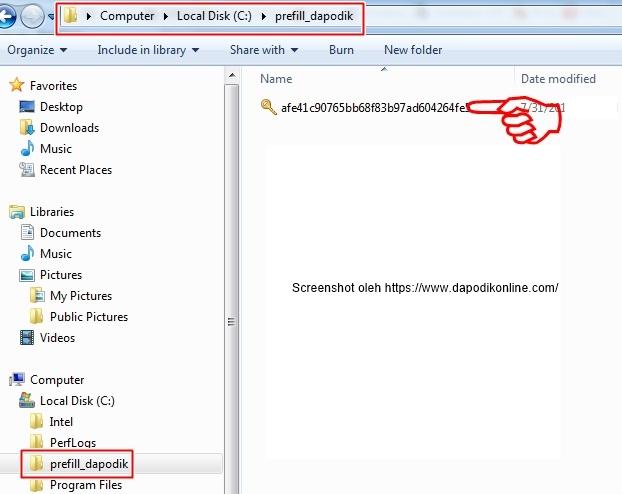 Masukkan prefill PMP ke dalam folder prefill_dapodik
