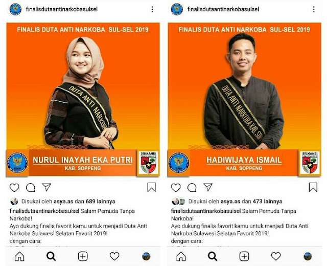 PP Kabupaten Soppeng Ikutkan Dua Kadernya Pemilihan Duta Anti Narkoba Sulsel