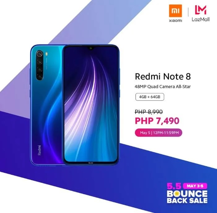 Xiaomi Redmi Note 8 4GB + 64GB On Sale at Lazada for Php7,490 Instead of Php8,990