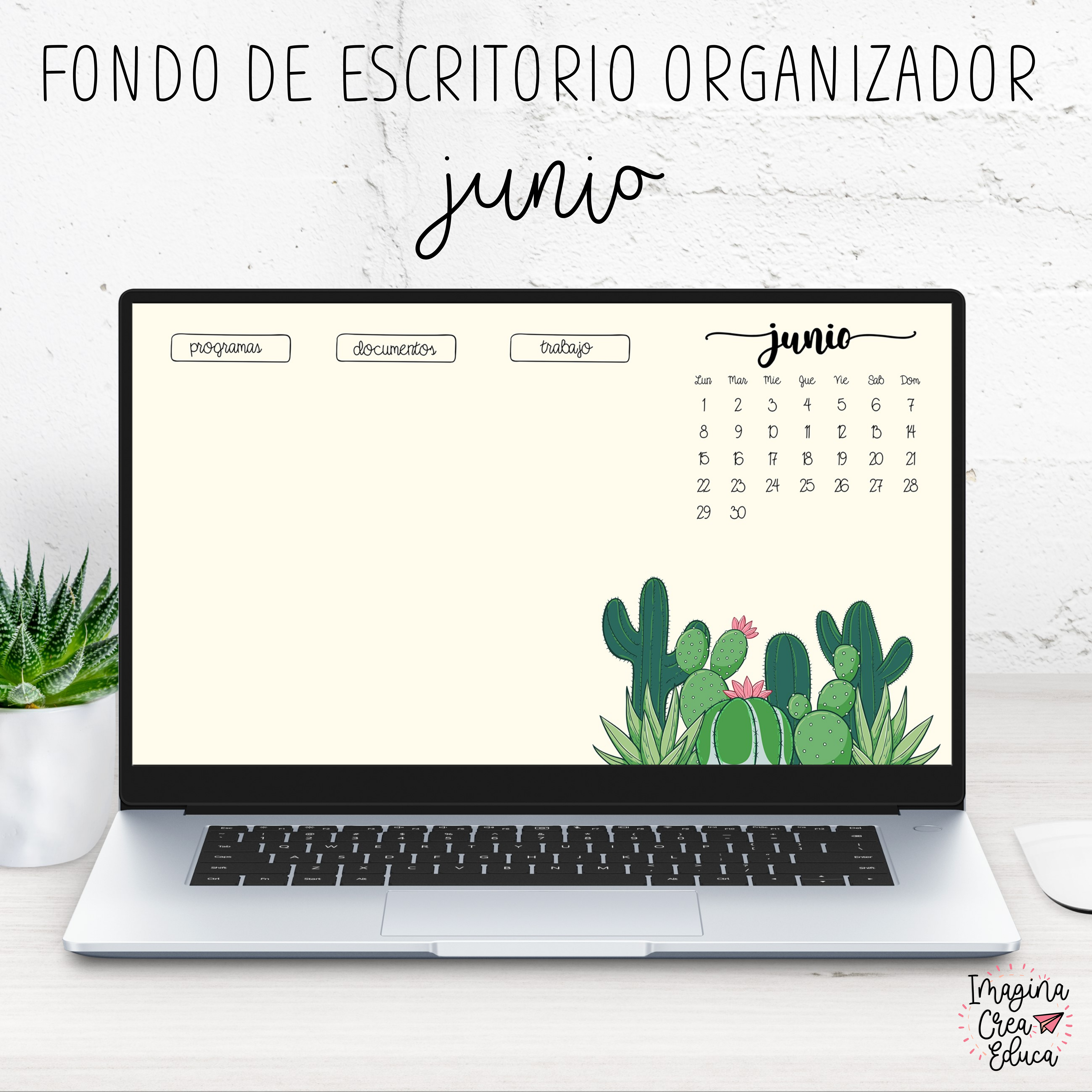 FONDO DE ESCRITORIO ORGANIZADOR JUNIO