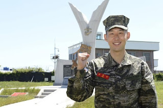 Son Heung-min military service picture
