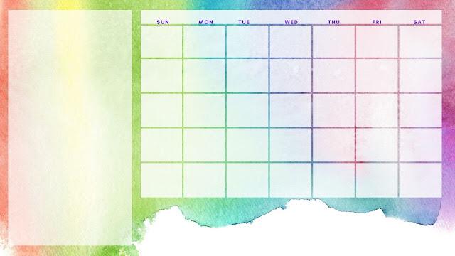 Rainbow calendar - free
