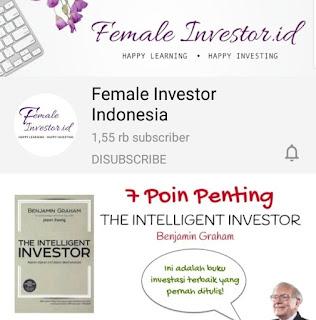 saluran youtube investasi femalw investor id