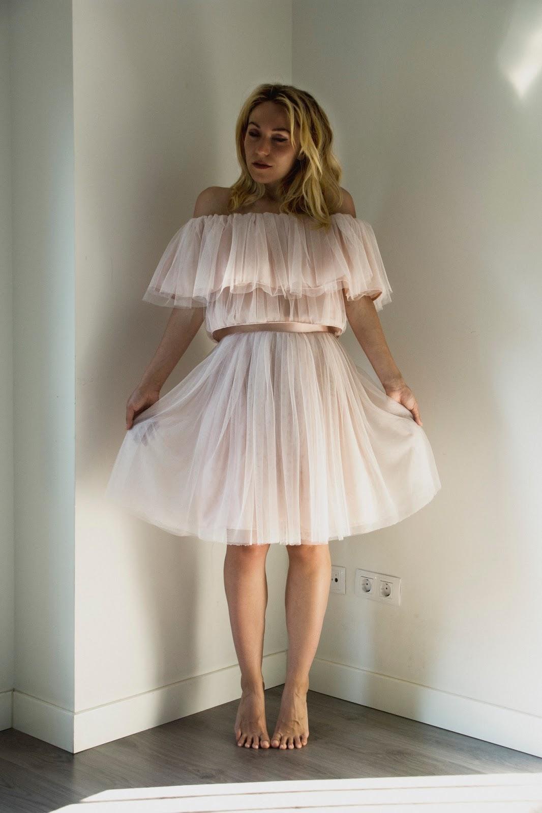 falda de tul con top