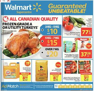 Walmart Flyer valid September 21 to 27, 2017 - Supercentre