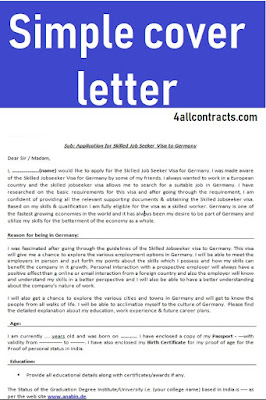 simple cover letters templates
