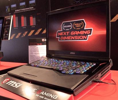 Tampilan MSI GT75 : Laptop Corei9 Pertama