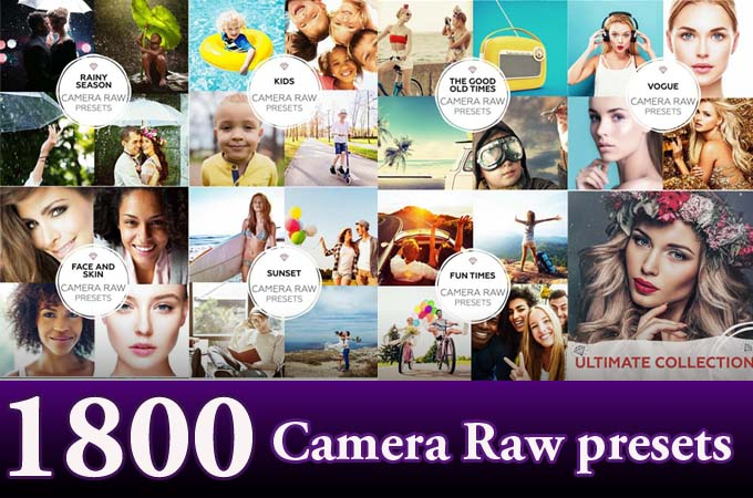 1800+ Ultimate Photography Camera Raw presets Bundle
