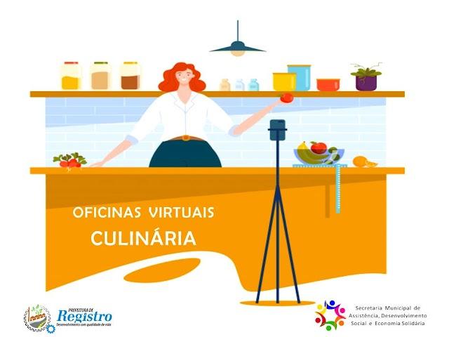 CRAS de Registro-SP disponibiliza Oficinas Virtuais de Culinária