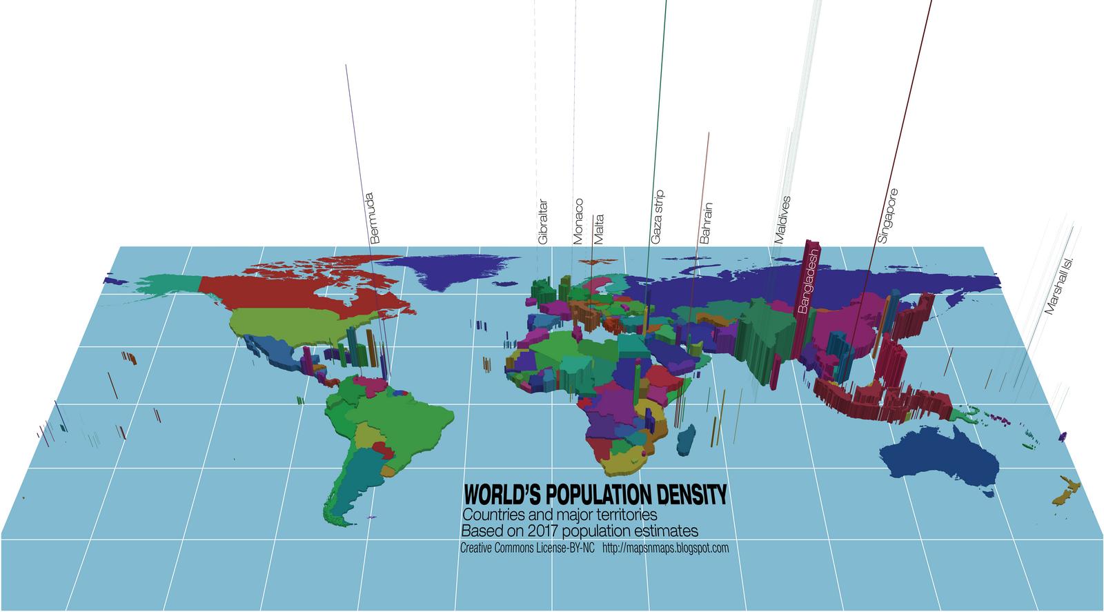Maps Amp Maps World S Population Density Map