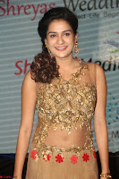 Jenny in brown transparent sleeveless anarkali dress at Shamanthakamani pre release function ~  Exclusive 032.JPG