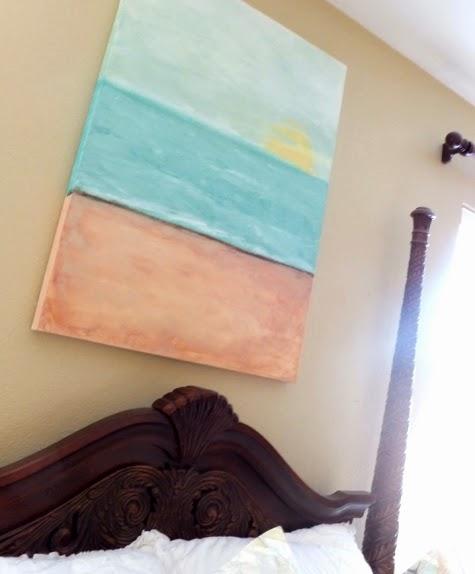 Diy Abstract Ocean Paintings Anyone Can Make Coastal Decor Ideas Interior Design Diy Shopping