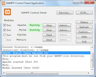 Install a web server with XAMPP