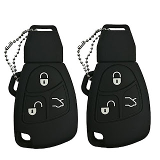 2Pcs Coolbestda Rubber 3 Buttons Smart Key Fob Remote Cover Case Protector  Keyless Jacket for