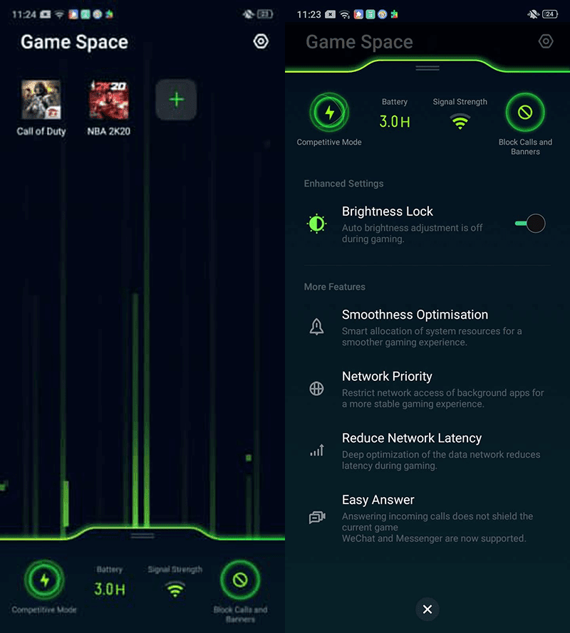 Game Space optimizes to lessen latency while gaming
