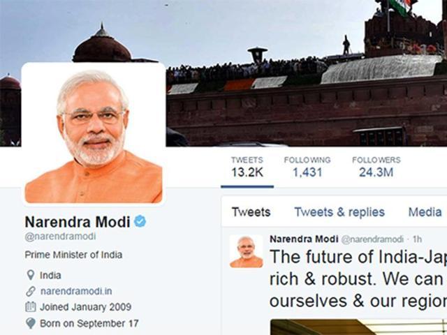 ट्विटर ने हटाए नरेंद्र मोदी के करीब तीन लाख फॉलोअर्स