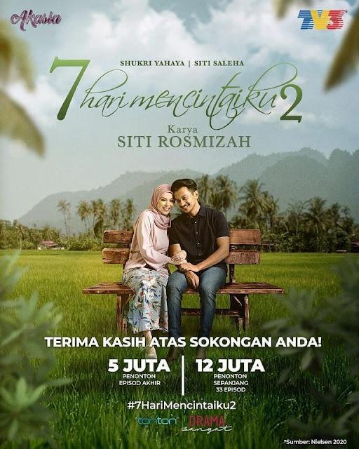 Penulis Novel, Siti Rosmizah Mengesahkan 7 Hari mencintaiku Musim Ke-3 Akan Keluar Tahun 2022