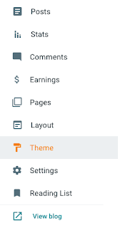 Select Theme Option in Blogger