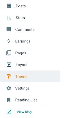 Select Theme option