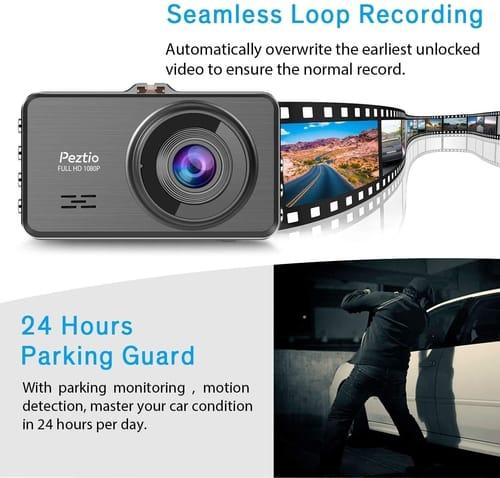 Peztio Full HD Dash Cam Camera for Cars
