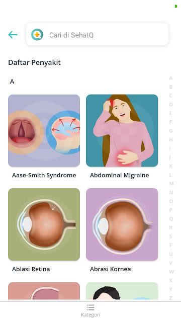 informasi penyakit di aplikasi sehatQ