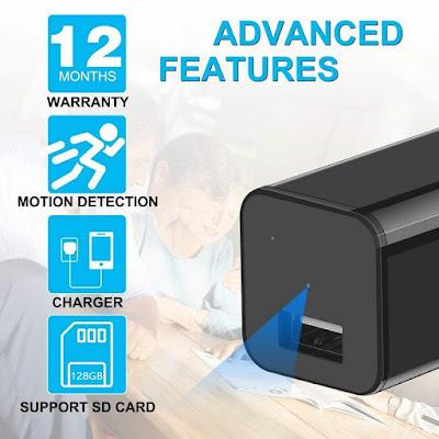 USB Charger Hidden Camera 1080p HD