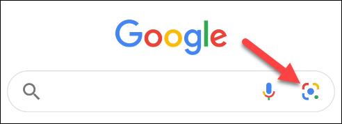 اضغط على أيقونة العدسة في تطبيق جوجل
