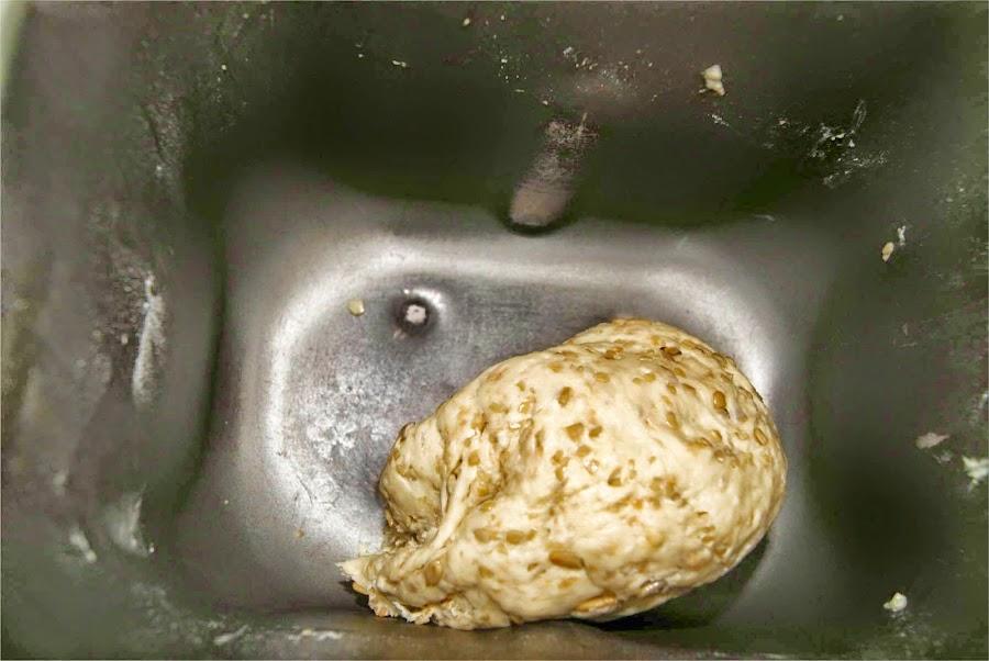 receta de pan casero de pipas paso 1