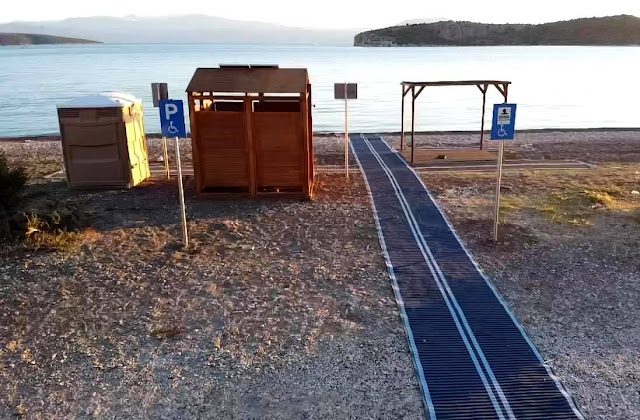 Έτοιμη η ράμπα για την πρόσβαση ΑΜΕΑ στην παραλία Κονδύλι