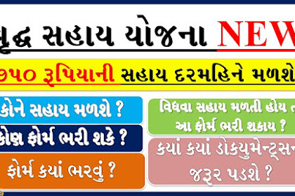 Vrudh Sahay Yojana 2021 form Gujarat Application Form PDF & All Details