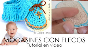 Cómo tejer Mocasines con Flecos para Bebés de 0 a 3 meses | Tutorial Crochet