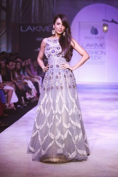 Malaika Arora Khan in Backless Designer Anarkali Gown