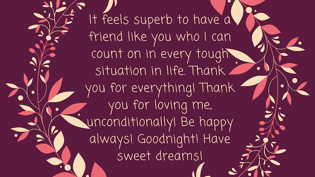 good night sms for friend