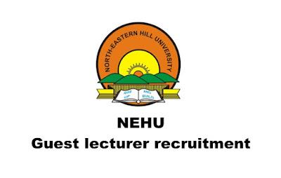 Guest lecturer recruitment in NEHU (North-Eastern Hill University) Walk-in: 08.03.2019