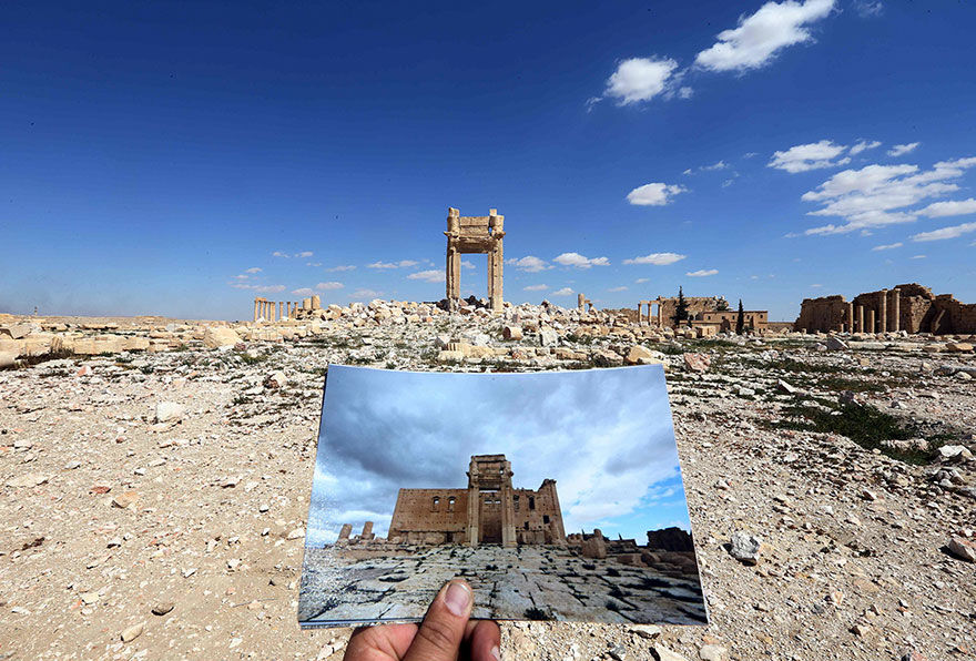 Shocking Pictures Illustrating Syrian Historical Monuments Destroyed By Daesh attacks - Temple of Bel, destroyed in September 2015