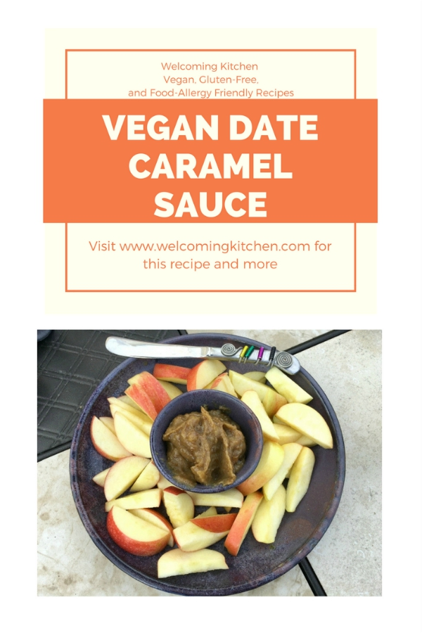 Vegan Date Caramel Sauce (vegan, gluten-free, food-allergy friendly) - www.welcomingkitchen.com