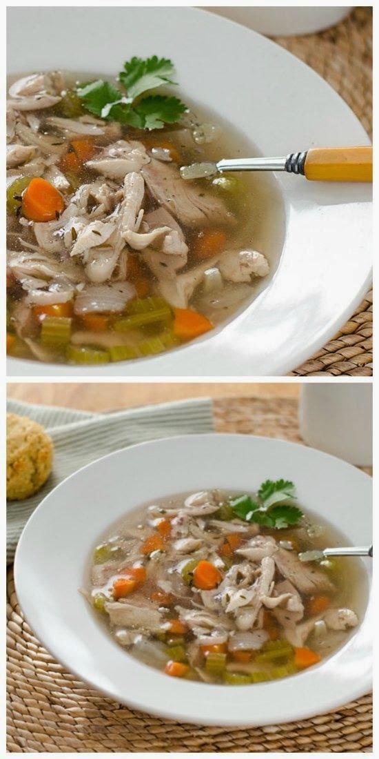 Paleo Crock Pot Chicken Soup from Cook Eat Paleo found on SlowCookerFromScratch.com