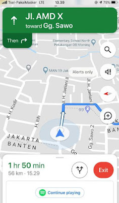 Cara Putar Lagu Spotify di Aplikasi Google Maps