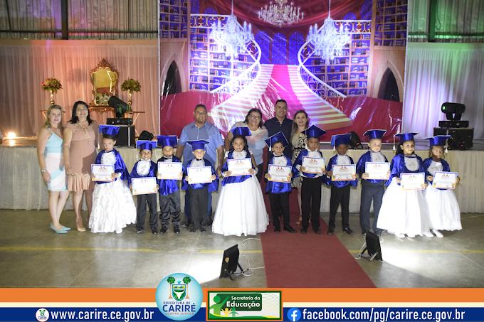 """Segunda noite da cerimônia de entrega de certificados aos """"Doutores do ABC"""" de escolas municipais de Cariré-CE"""