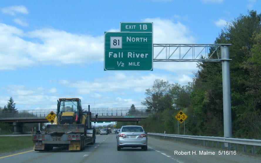 Road Map Of Project%0A The last pair of new signs are at the ramp to the MA    North exit  with a      mile advance for MA    South  which is proposed to be Exit  A