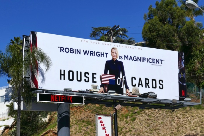 Robin Wright House of Cards final season Emmy FYC billboard