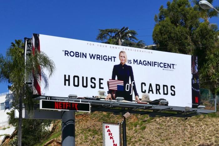 Robin Wright House of Cards final season Emmy FYC billboard