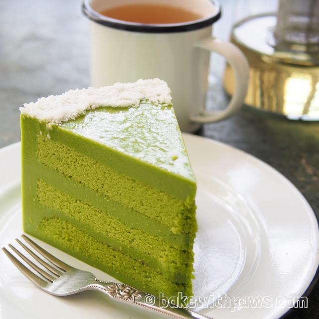 Pandan Custard Layer Cake