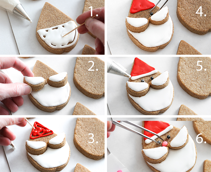 Whole Wheat Santa Sugar Cookies Recipe