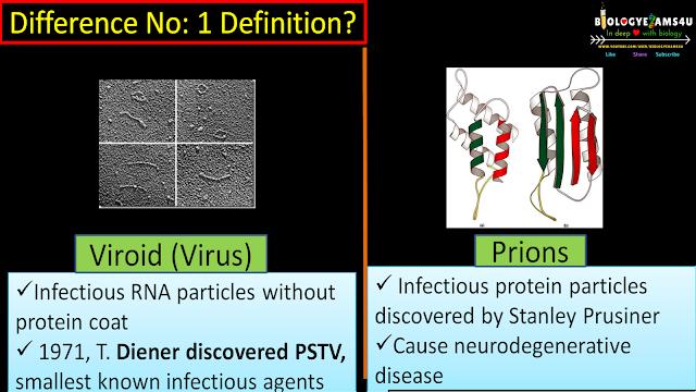 Viroids vs Prions
