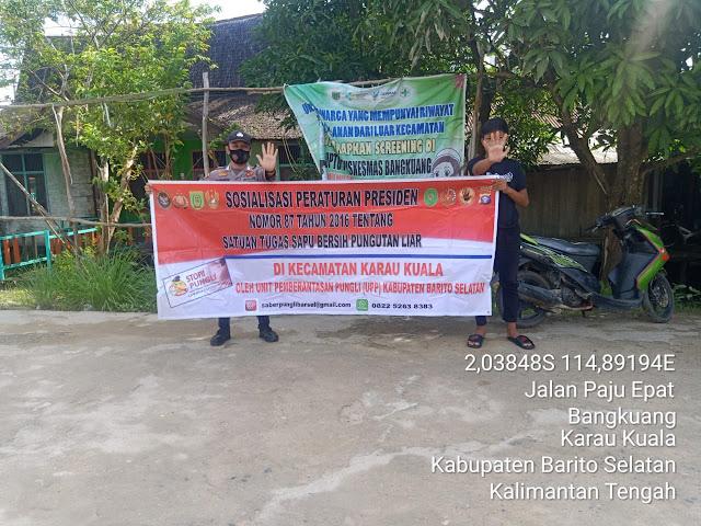 Sosialisasikan Perpres Nomor 87 Tahun 2016, Polsek Karau Kuala Komitmen Berantas Pungli