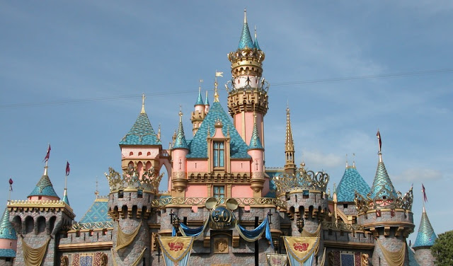 Sleeping Beauty Castle or Snow White's Castle at Day at Disneyland California