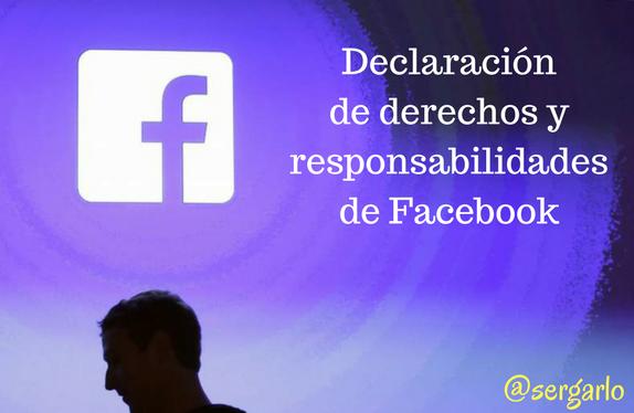 Facebook, redes sociales, social media, declaración, derechos, responsabilidades