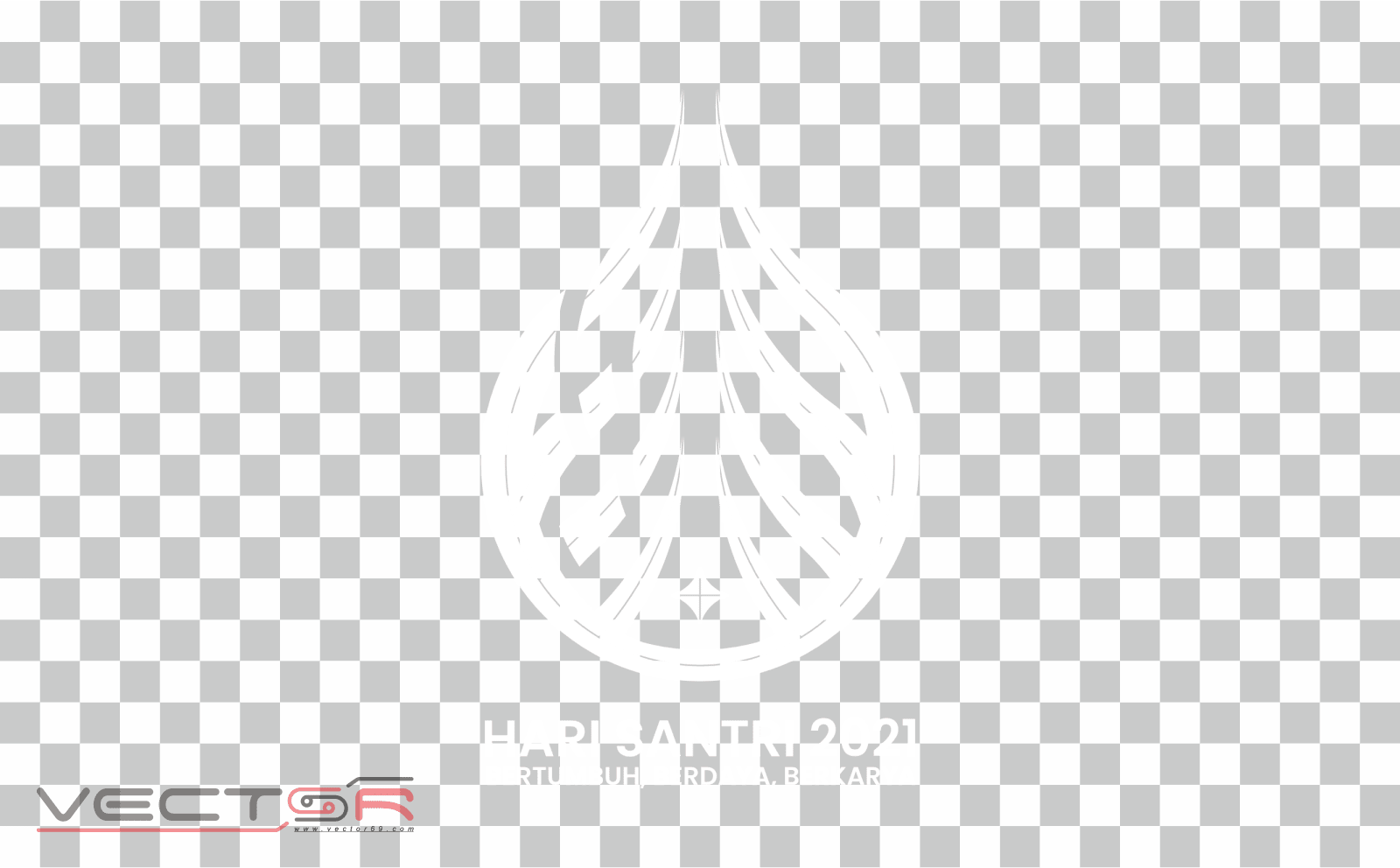 Hari Santri 2021 RMI-NU White Logo - Download .PNG (Portable Network Graphics) Transparent Images
